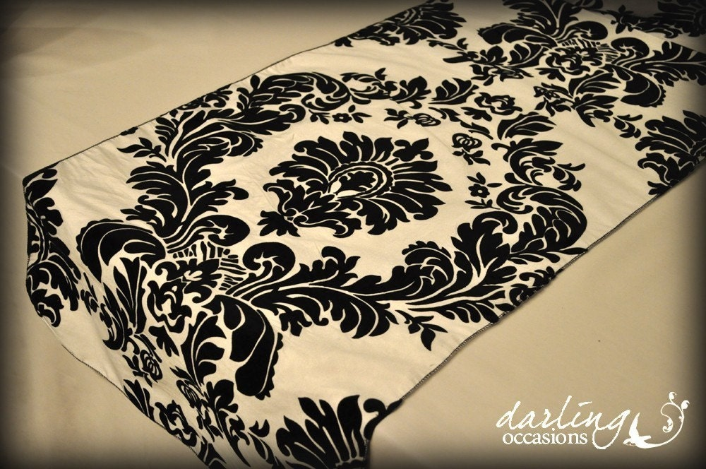 I Know I Know, More Black And Cream Damask! But This Is Different Because  Its A Big Bold Damask Instead Of Just A Texture Creating Small Print.