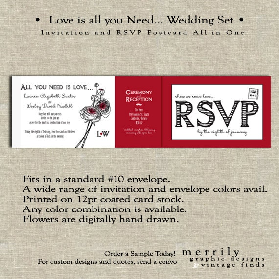 Items Similar To All You Need Is Love...All In One Wedding