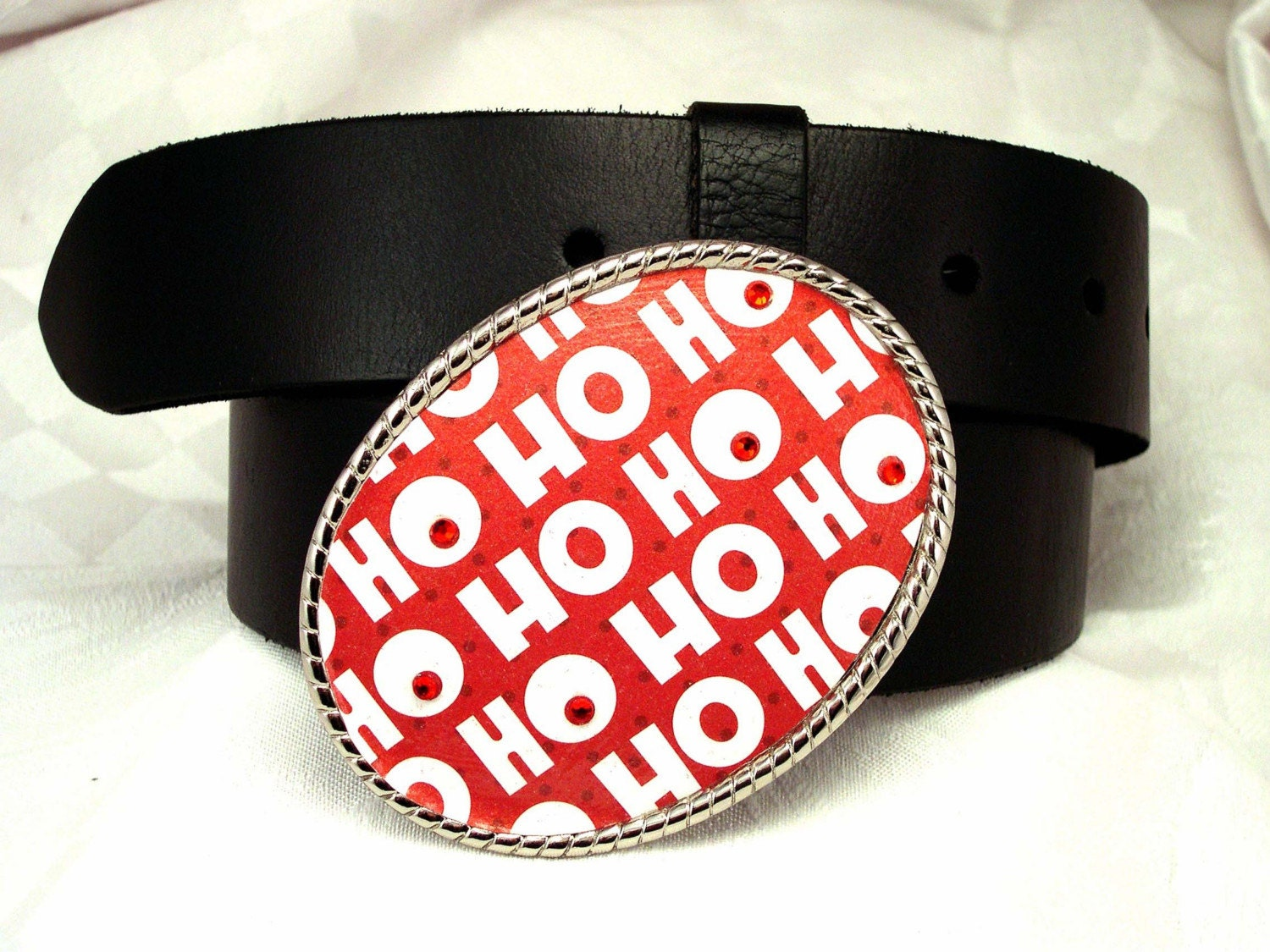 HO HO HO  Belt Buckle