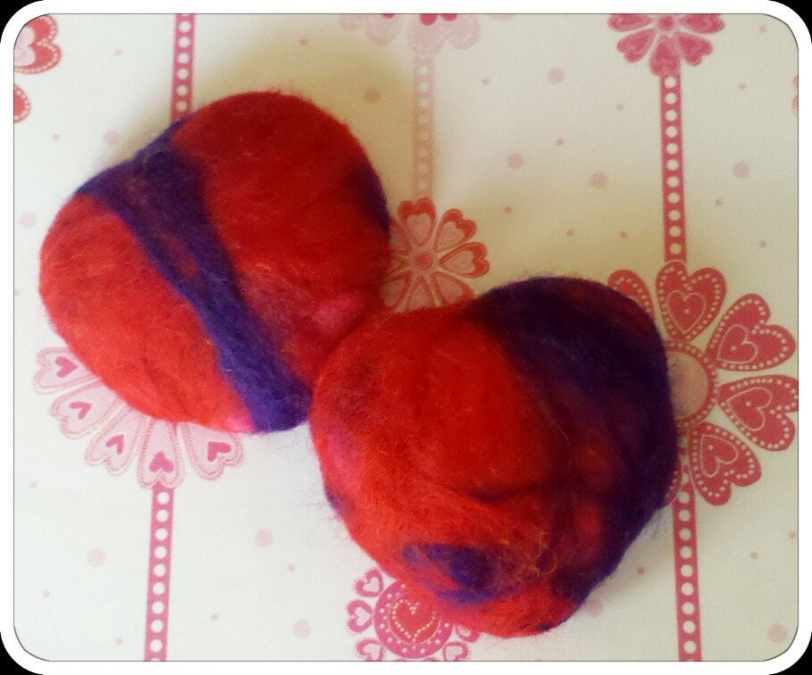 Mini Felted Heart Soaps Lavendar Scent Valentine Gift Idea Free Shipping
