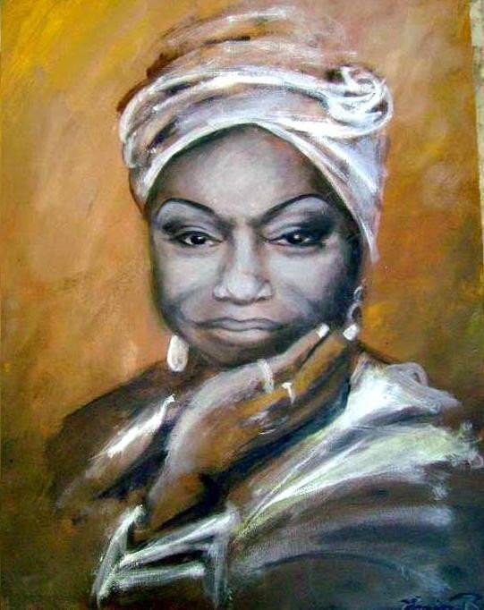 Nina Simone - 14 by 18 Original Acrylic Painting