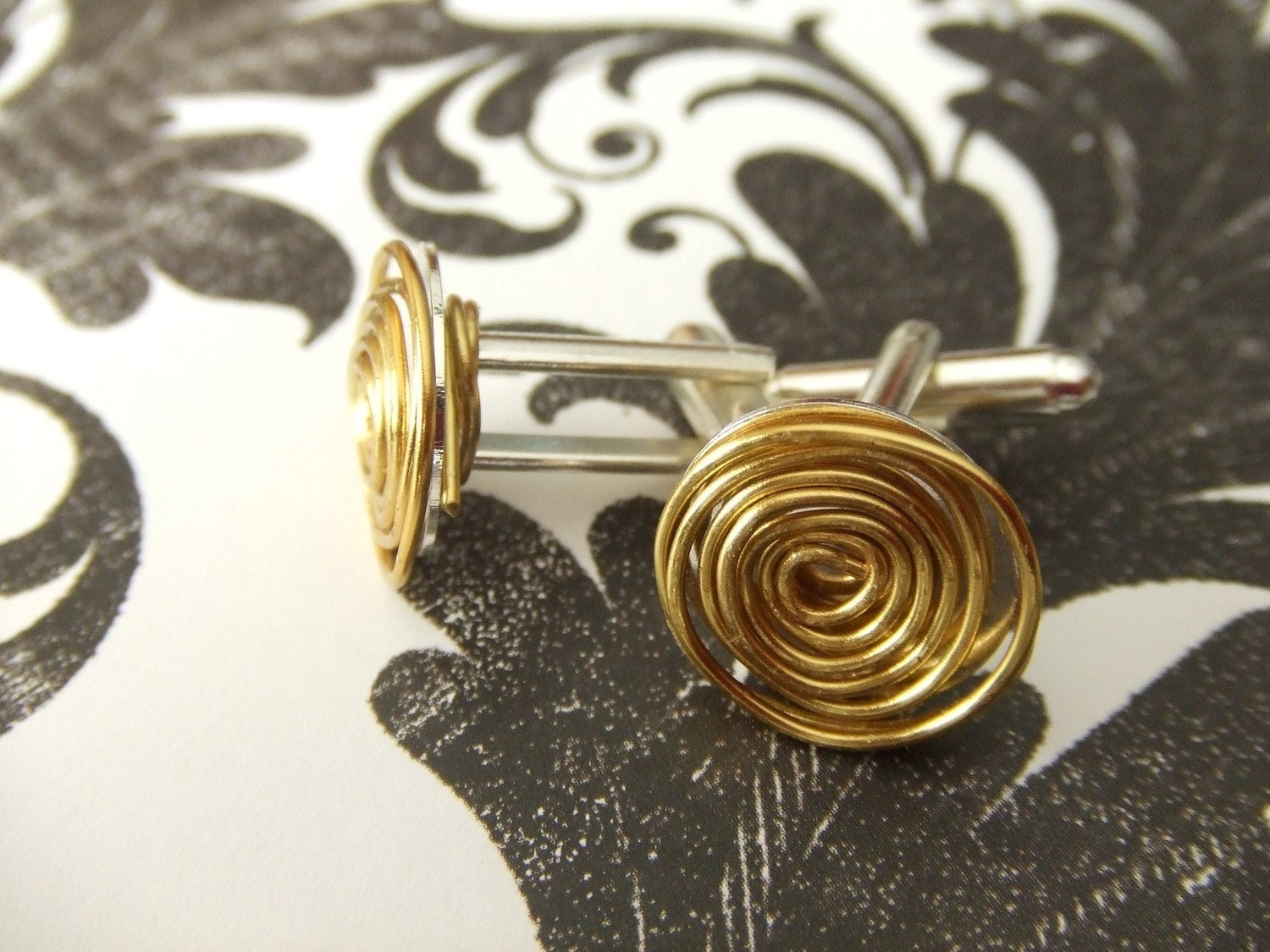 Two Tone Cuff Links-Mens