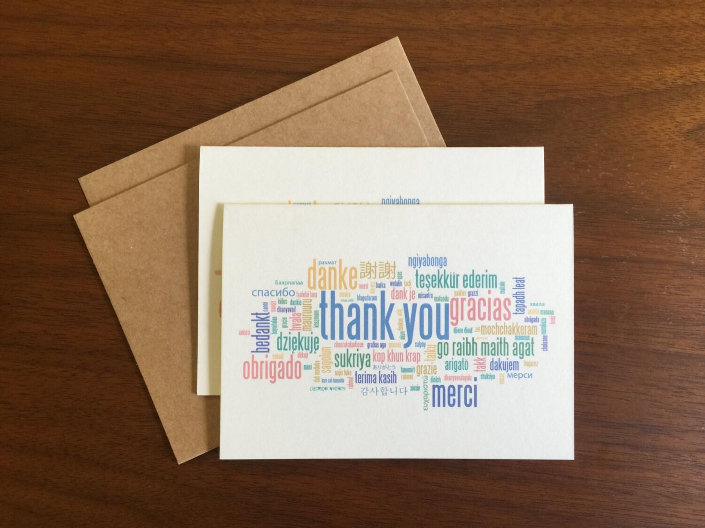 Bulk Thank You Cards Etsy