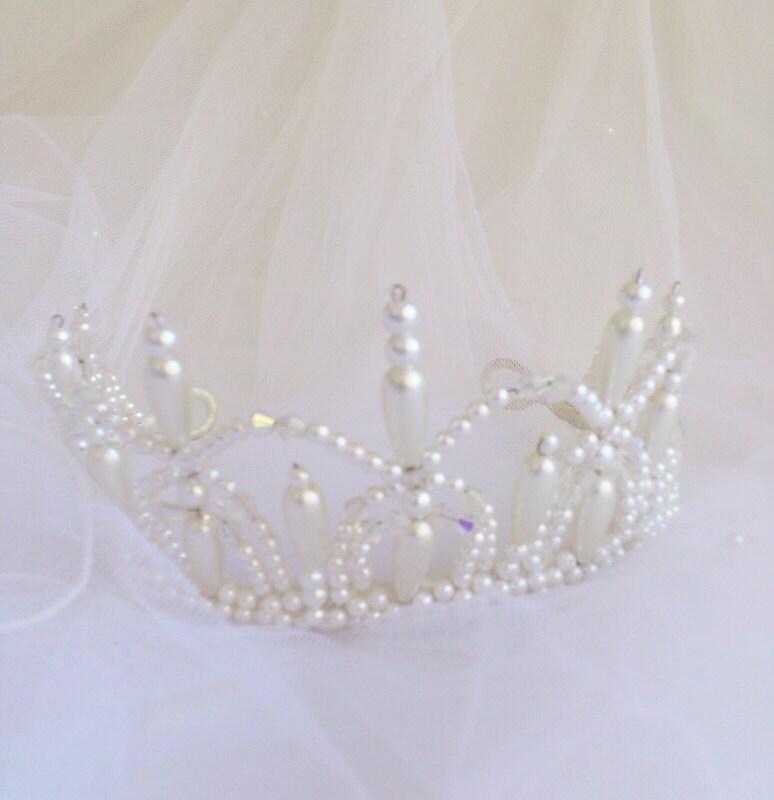 Wedding Tiara,  Bridal Tiara, Princess Tiara, Princess Tiara Crown, Medieval Tiara, Gothic Tiara, Renaissance Tiara,