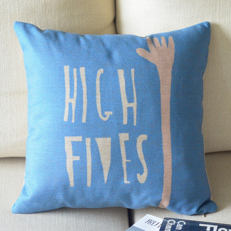 Decorative Throw Pillows With Words : Word Printed Linen pillow cover decorative throw by bestlove2u