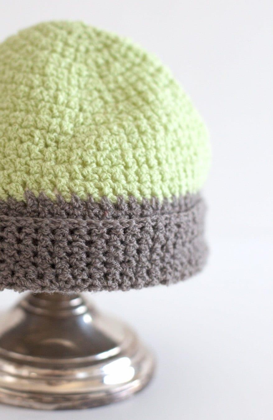 repurposed cashmere baby beanie