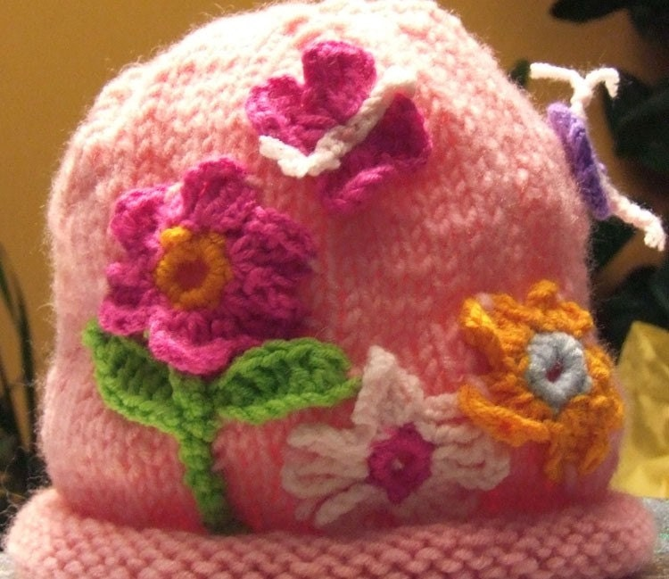 FREE SHIPPING-FLORAL HAT(PINK)