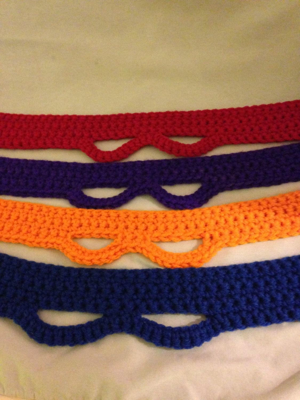 Free Crochet Pattern Ninja Turtle Mask : Adult and Child Teenage Mutant Ninja Turtle Masks