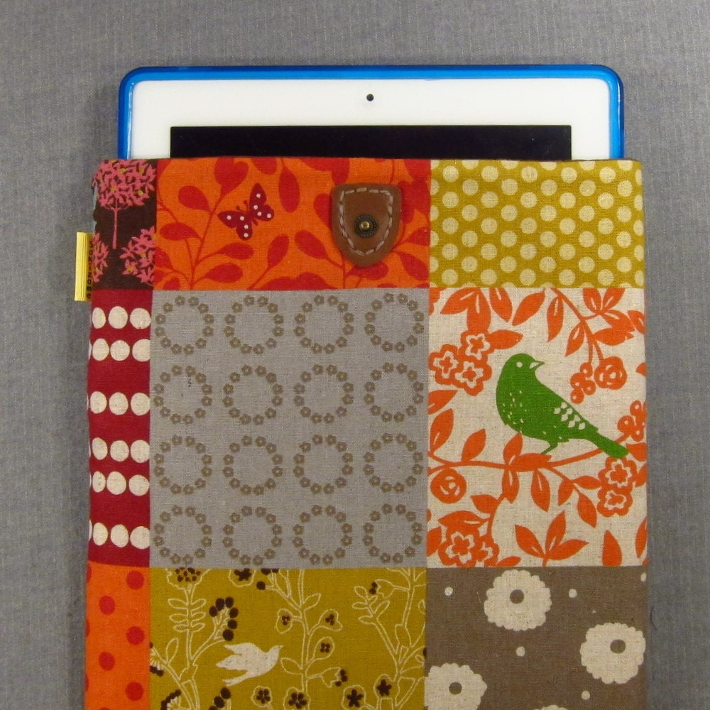 iPad Padded Sleeve Case with Japanese Button Tab - Windows to the Woods