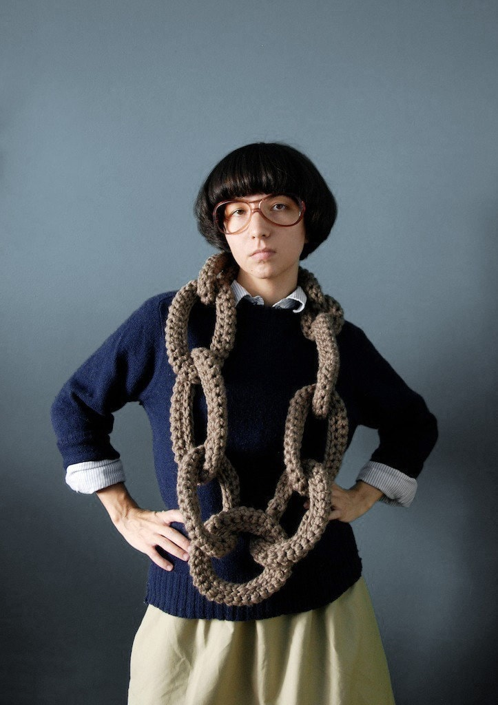Chain Scarf by Yokoo