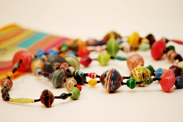 NOW 50% OFF REGULAR PRICE Acholi Bead Jewelry made in Uganda  Long Necklace 56 to 66 inches