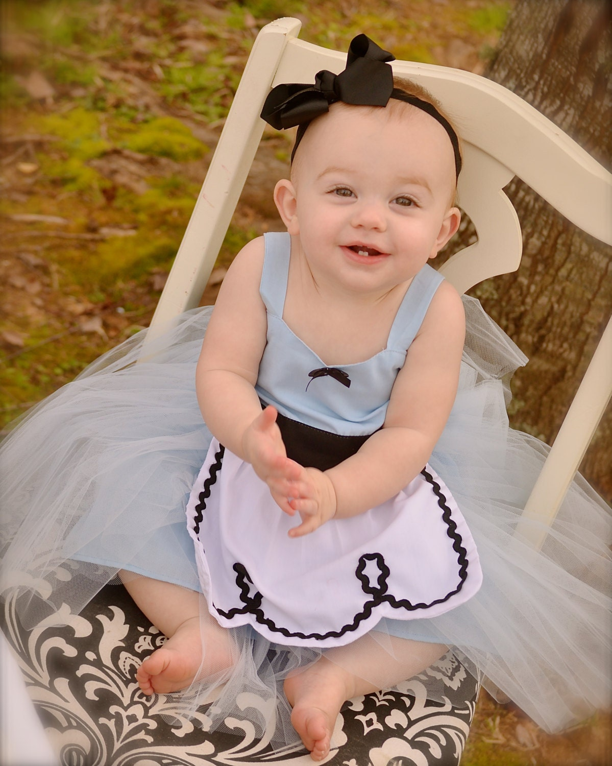 ALICE IN WONDERLAND dress baby 1st by loverdoversclothing