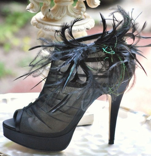 Shoe clips Ebony Bow Sexy Sophisticated Affair Tie Bold Elegant Summer LBD French Christian Louboutin Inspired Nonteamchallenge Statement 42