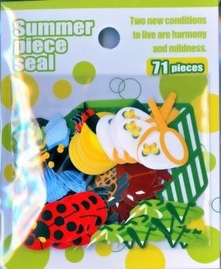 Cute Japanese  Anime Sticker Flakes - Summer Piece Seal - Bugs in Summer (S629)