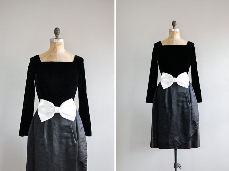 vintage 1950s Twin Shadow party dress