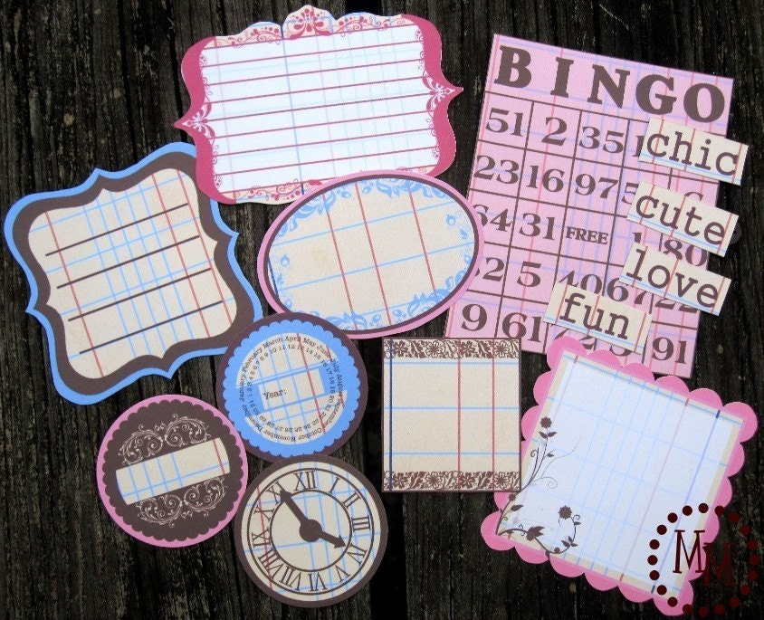 Downloadable Vintage Ledger Whimsy Journaling Spots