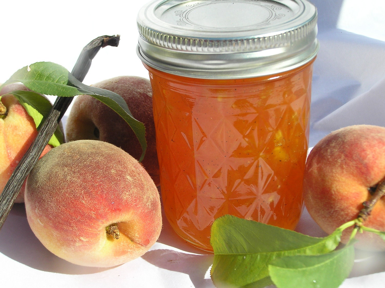 Vanilla Bean Peach Jam - TheSummerKitchen