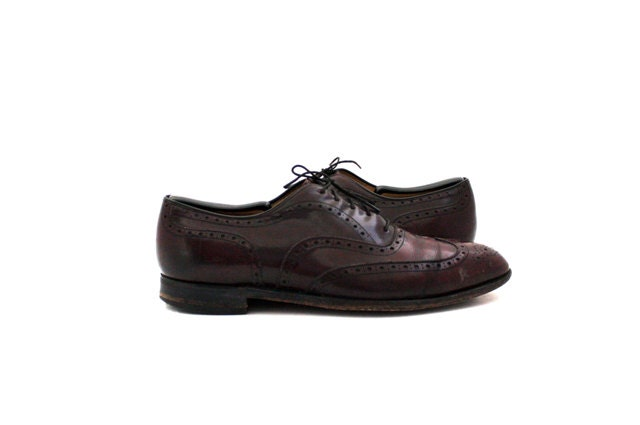 vintage s oxblood wingtip dress shoe size 11 1 2 by