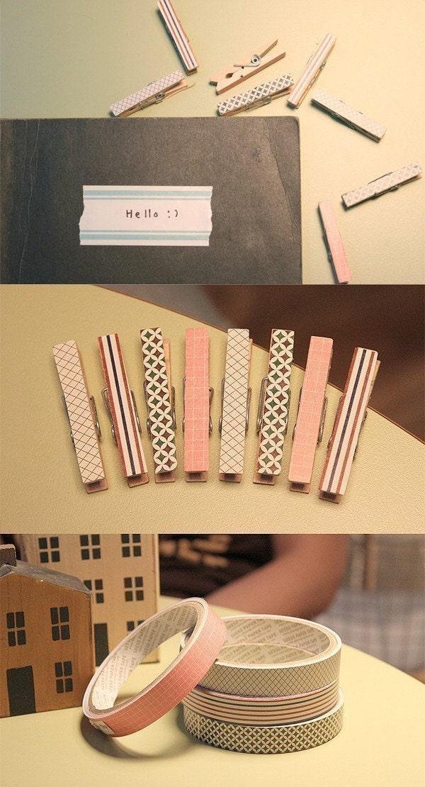 Lovely Grid Pattern Paper Tape - 15mm