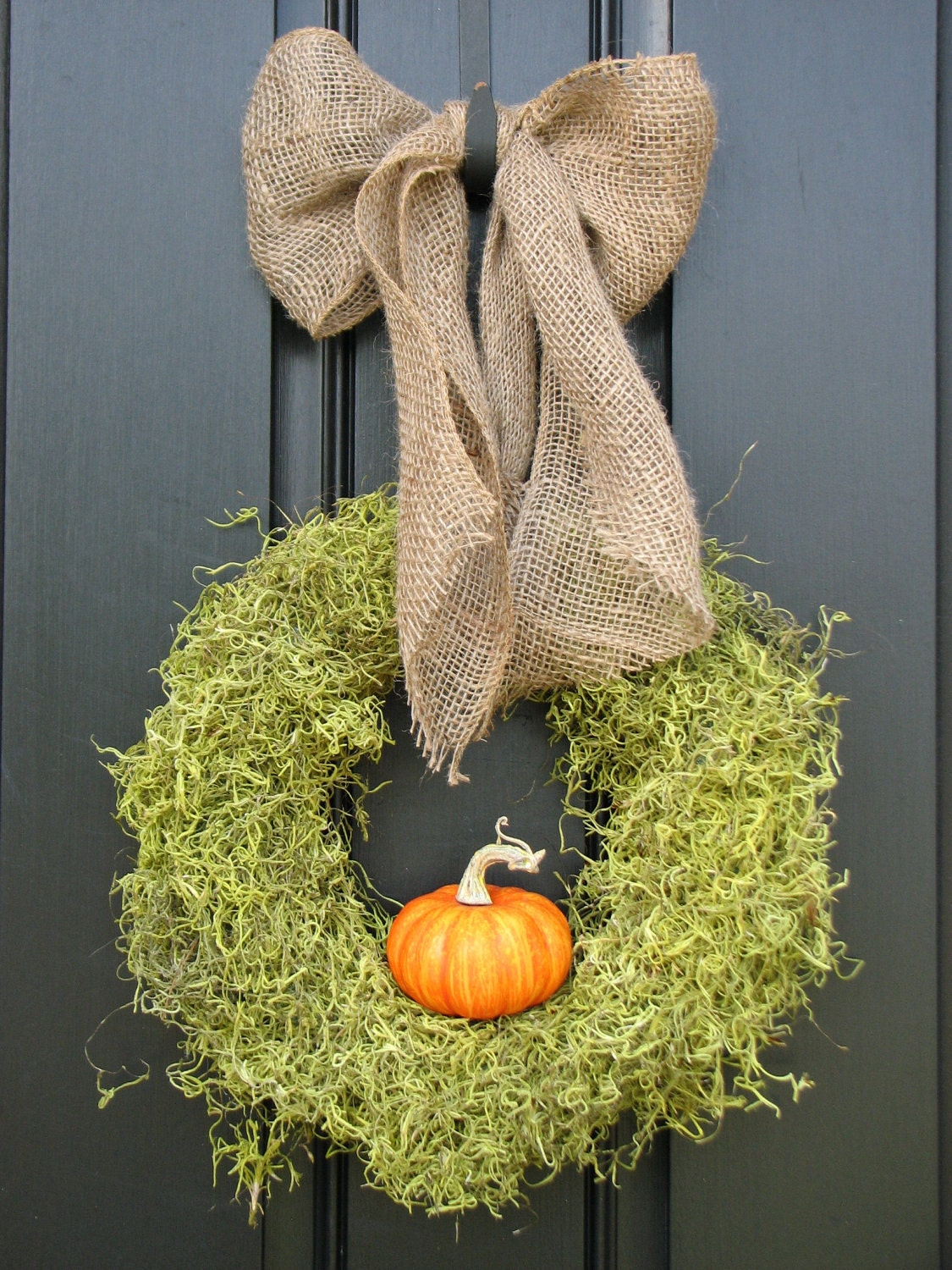 Fall Wreath - It's The GREAT Pumpkin Wreath with Burlap Bow - Original