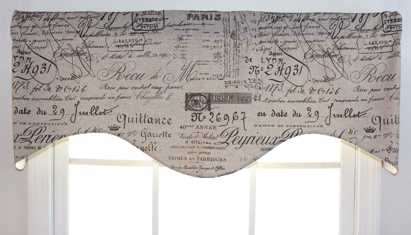 French Script Shaped Valance By Viedejolie On Etsy