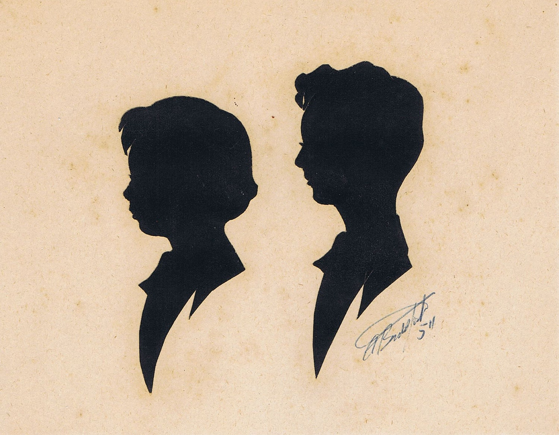 Vintage Hand Cut Silhouettes - ThistleDewMercantile