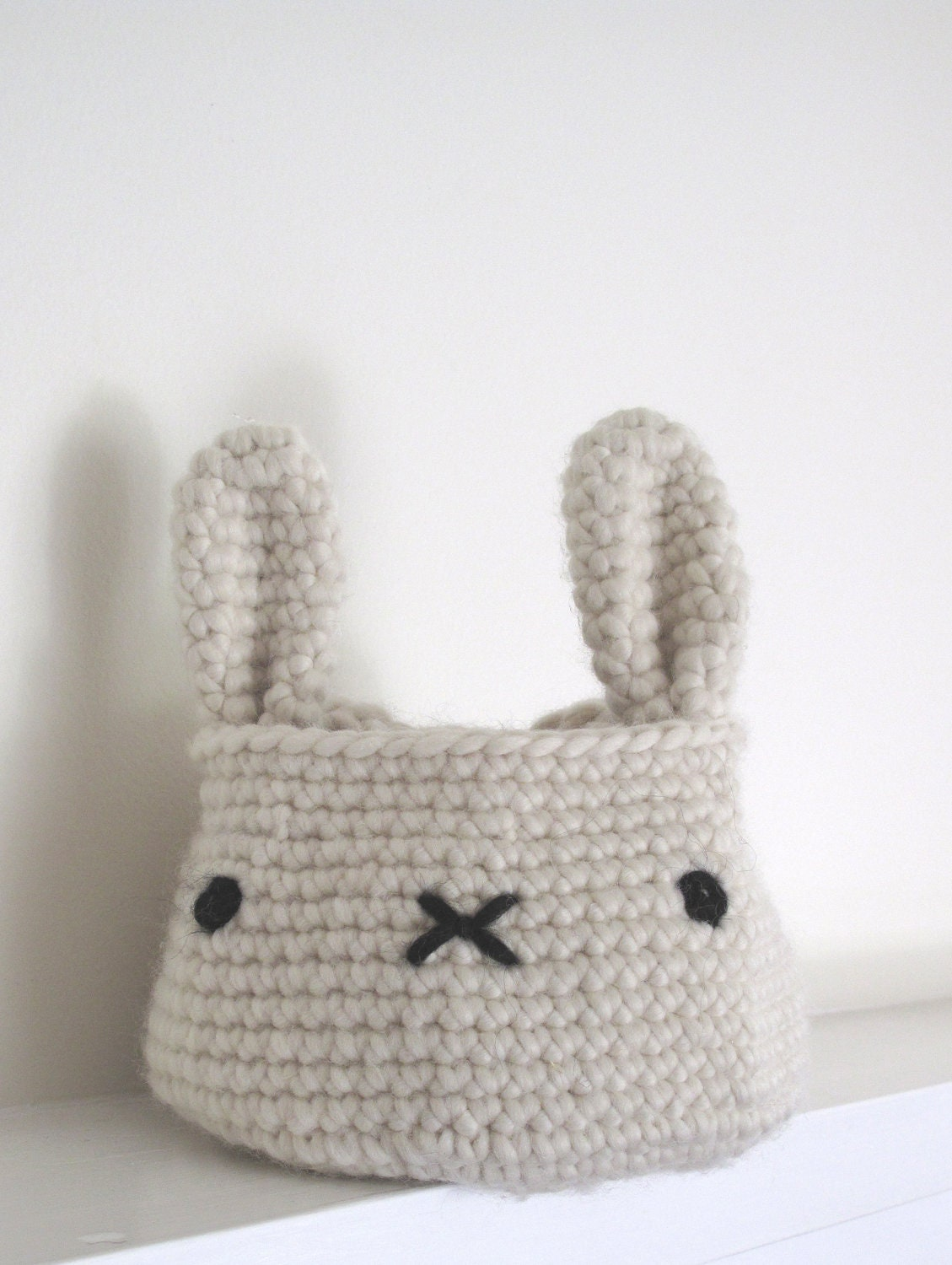 bunny basket bag crochet pattern PDF by cherylcambras on Etsy