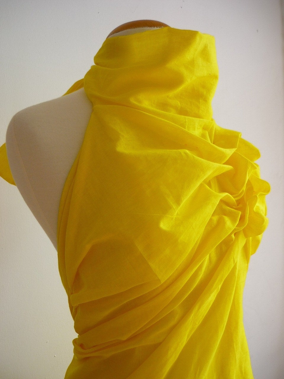 Sun Yellow Hand Draped Halter Top