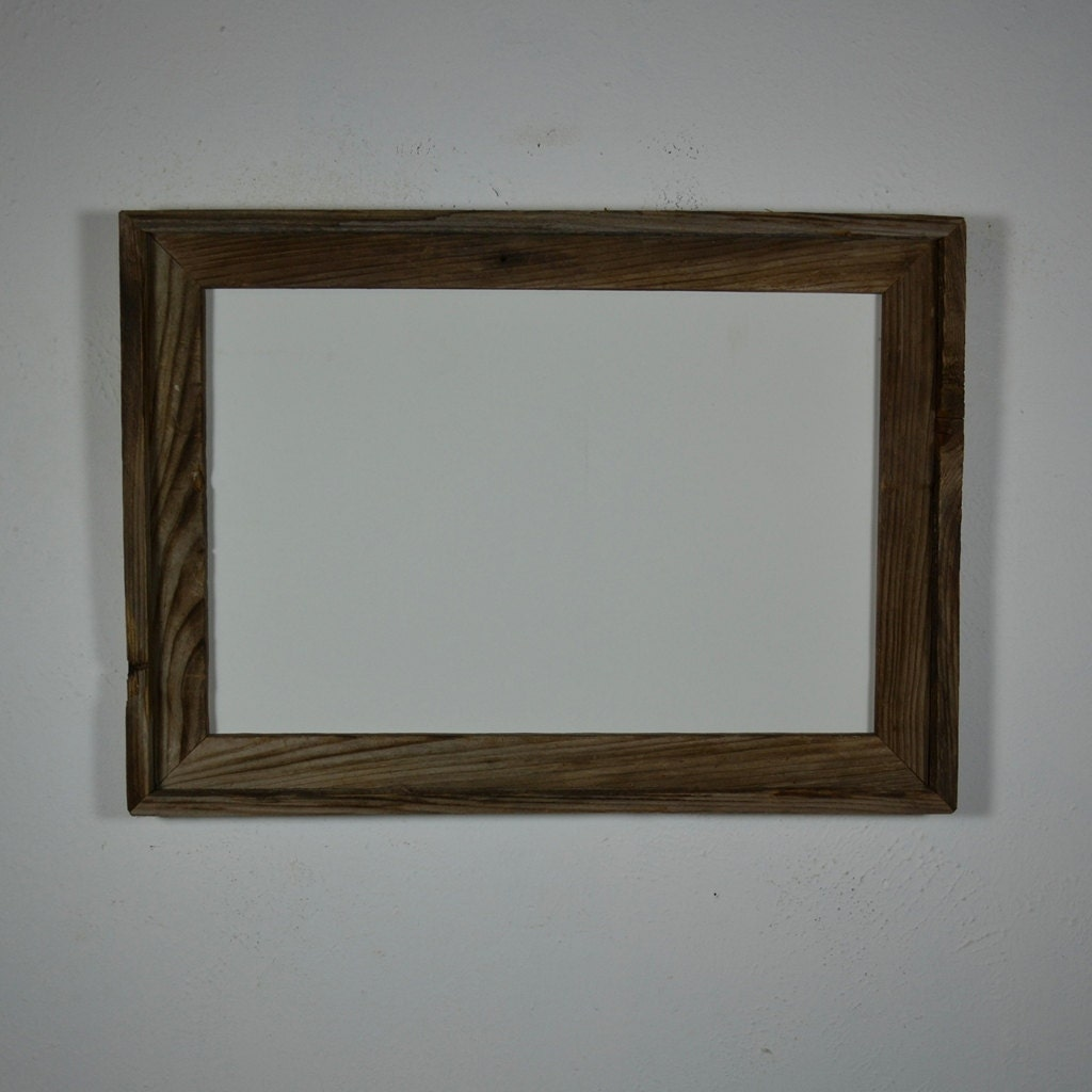 12 x 18 earth friendly reclaimed wood poster frame by