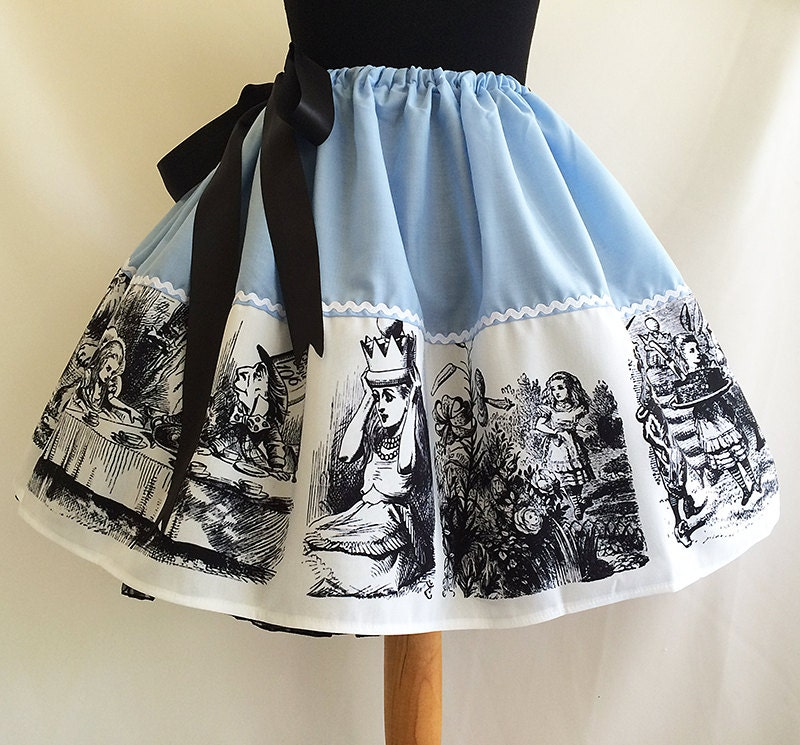 Alice In Wonderland skirt alice in wonderland skirts by rooby lane
