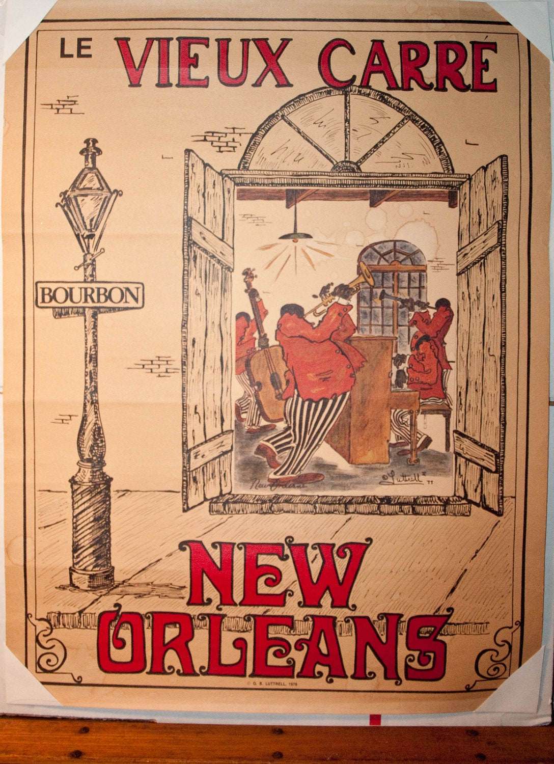 Vintage New Orleans Poster LE Vieux Carre French by ARTinBOXES