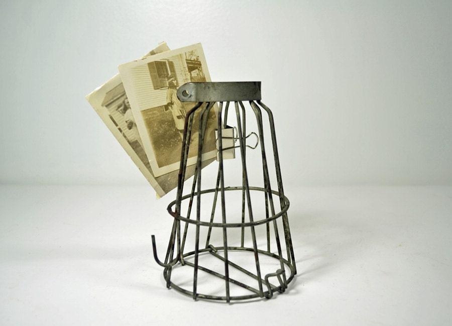 vintage wire light bulb cage by eyes4vintage on etsy. Black Bedroom Furniture Sets. Home Design Ideas