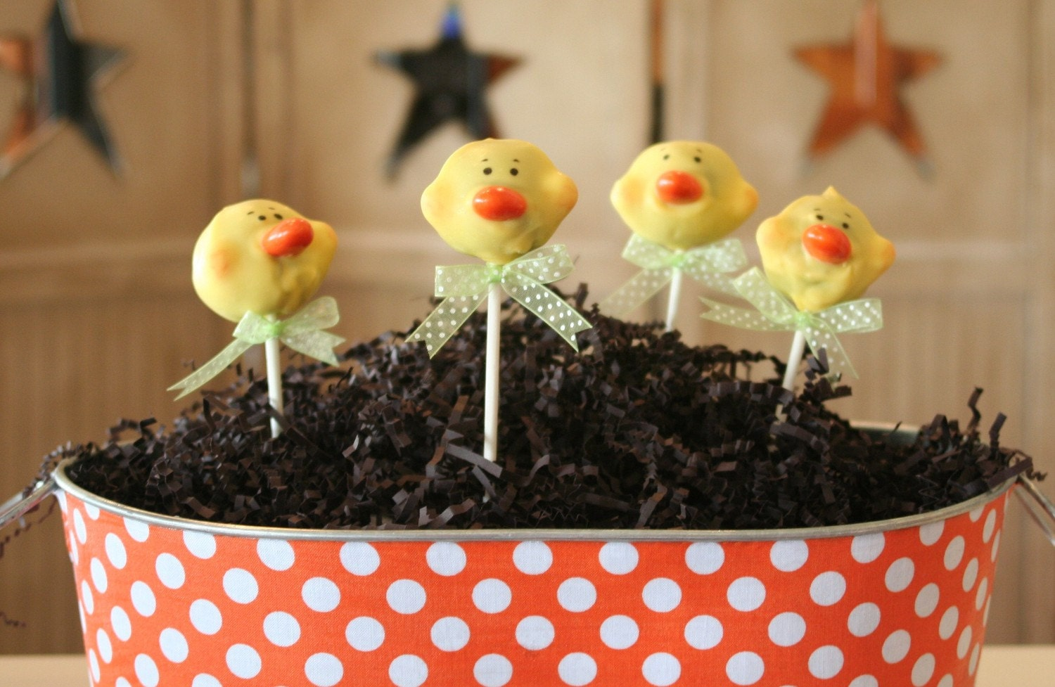 Mom's Killer Cakes & Cookies Original Design Yellow Duckie Duck Cake Pops Perfect For Easter