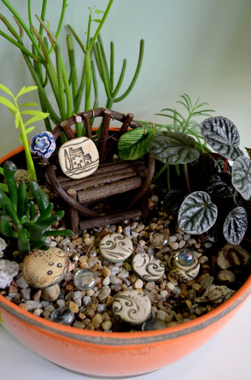 Miniature Fairy Garden Kit For Flower Pot Cinnamon By