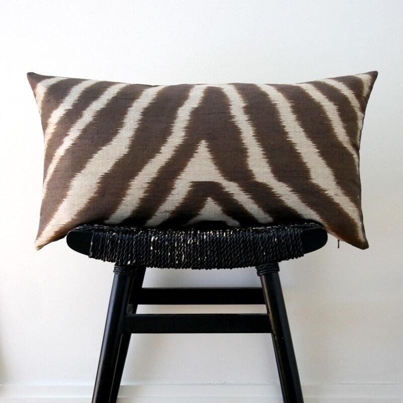 SAFARI Pure Silk Cushion Cover 63 x 34 cm