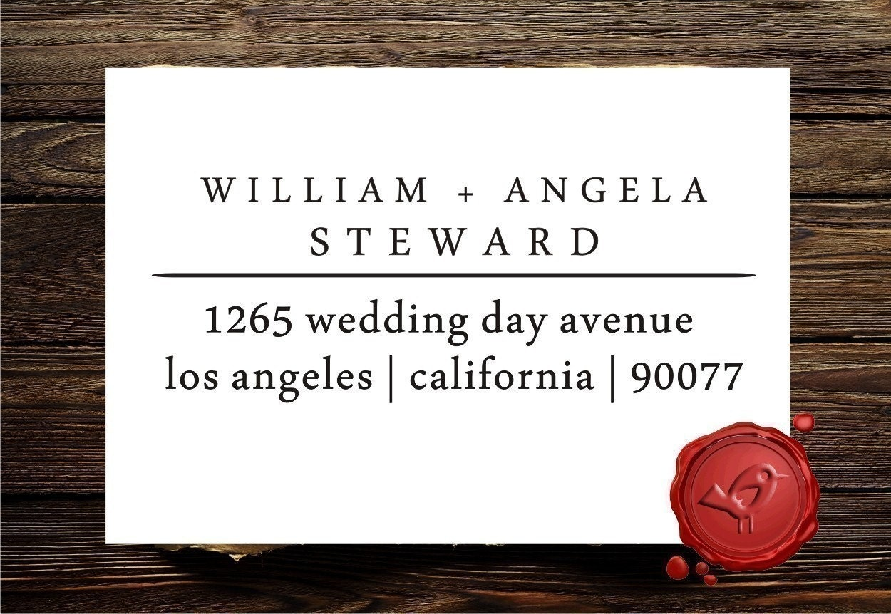 Personalized address custom text rubber stamp HOSTESS GIFT- style 1275