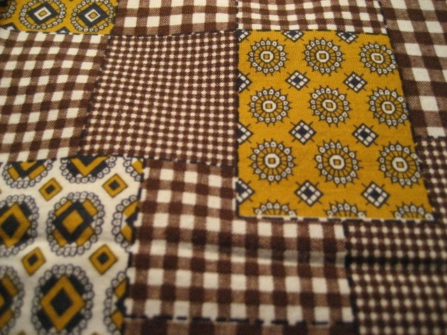 Set of 6 Vintage Cloth Patchwork Napkins
