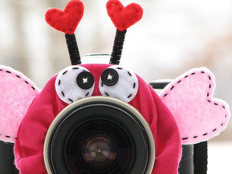 custom standard LOVE BUG Lens Pet for your camera
