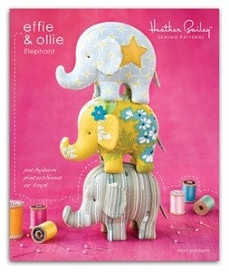 Heather Bailey Pattern  Effie and Ollie Elephants
