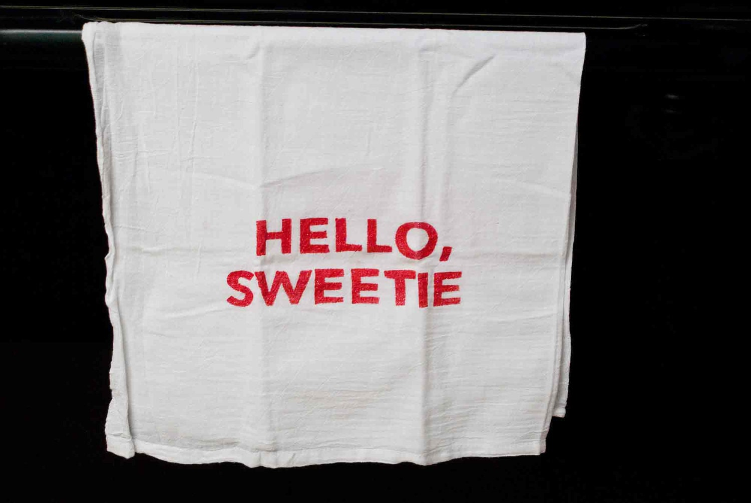 HELLO, SWEETIE  Dr. Who tea towel