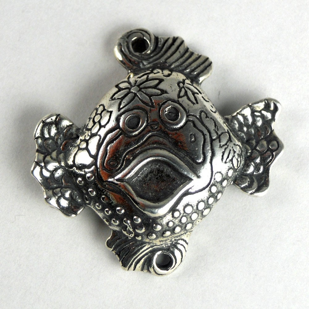 Sterling Silver Reversable Fish/ Octopus Link
