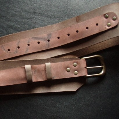steunk pirate leather belt wide brown belt by