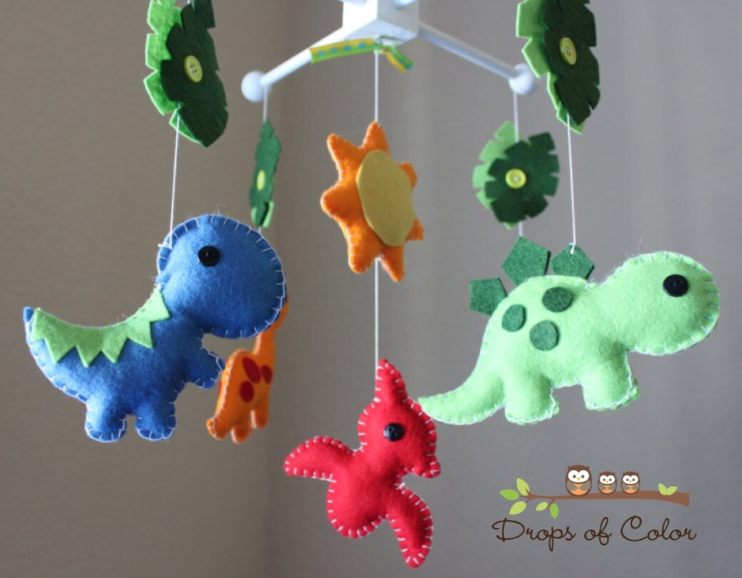 Baby Crib Mobile Baby Mobile Dinosaur Mobile By Dropsofcolorshop
