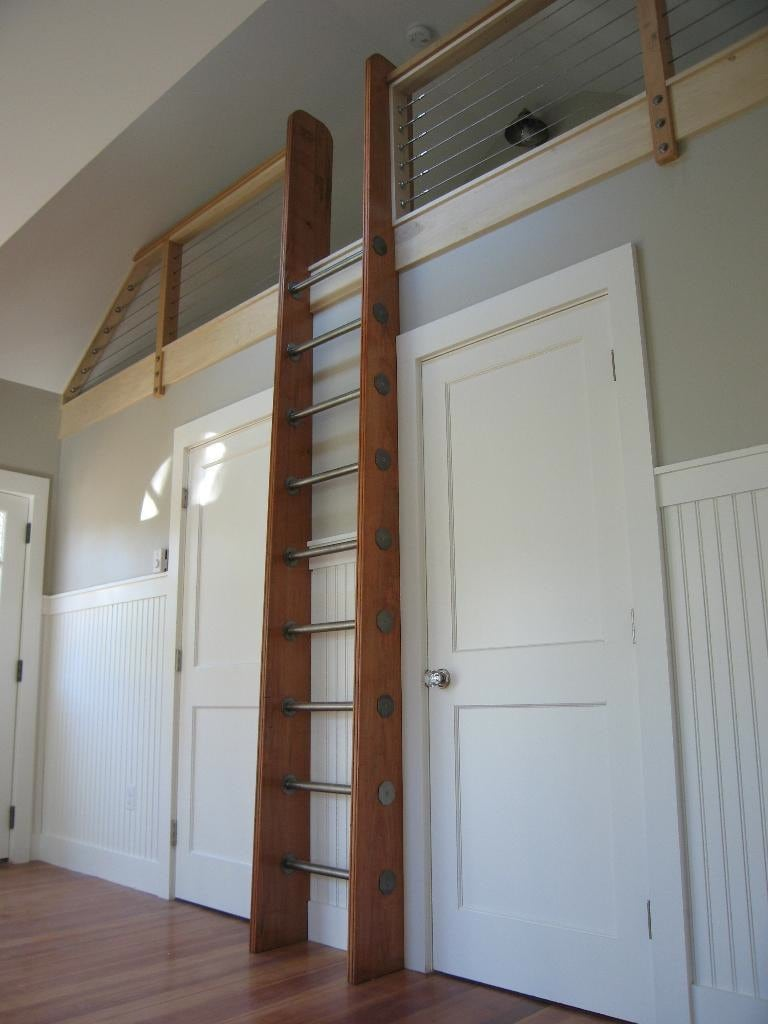 Ships Ladder For Loftlibraryattic Custom on Safe House Floor Plans