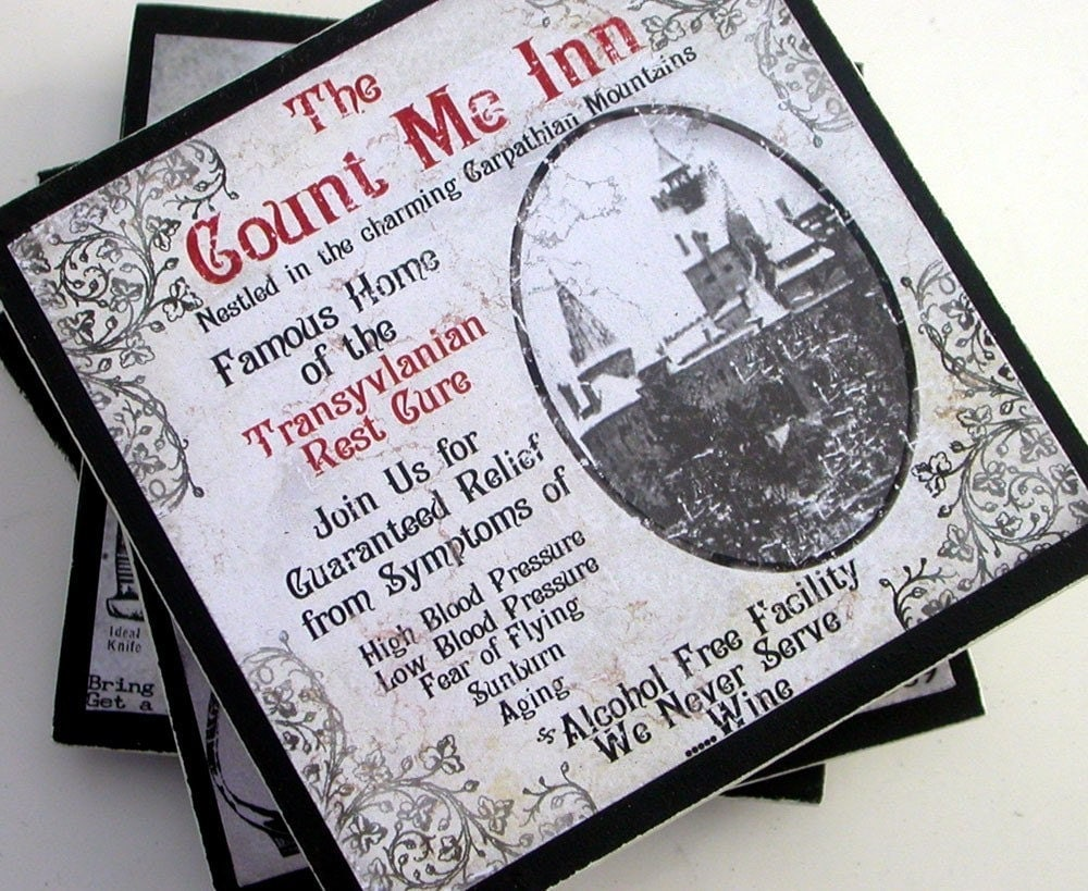 Gothic Halloween Coaster Set Part 2