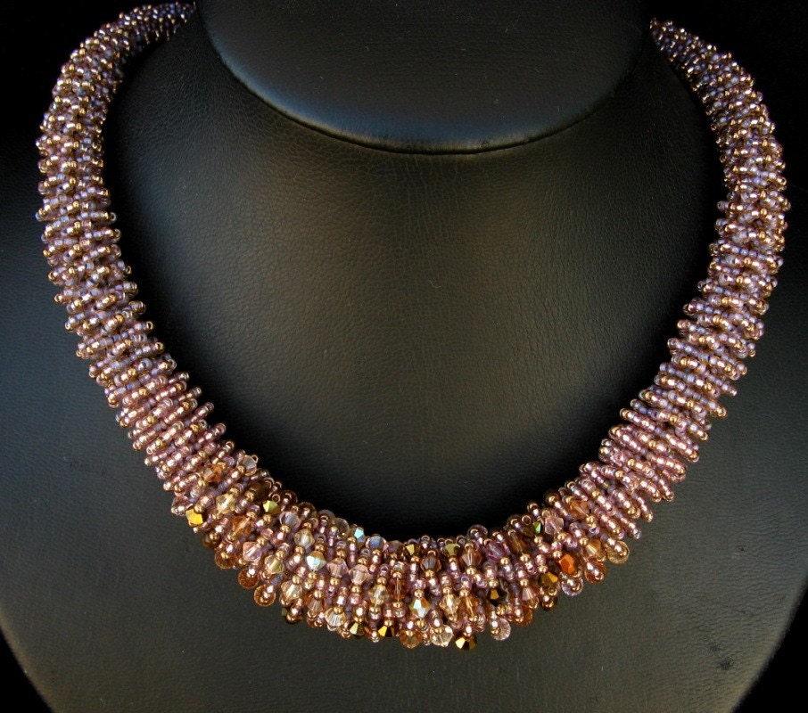 Lavender Maze Necklace
