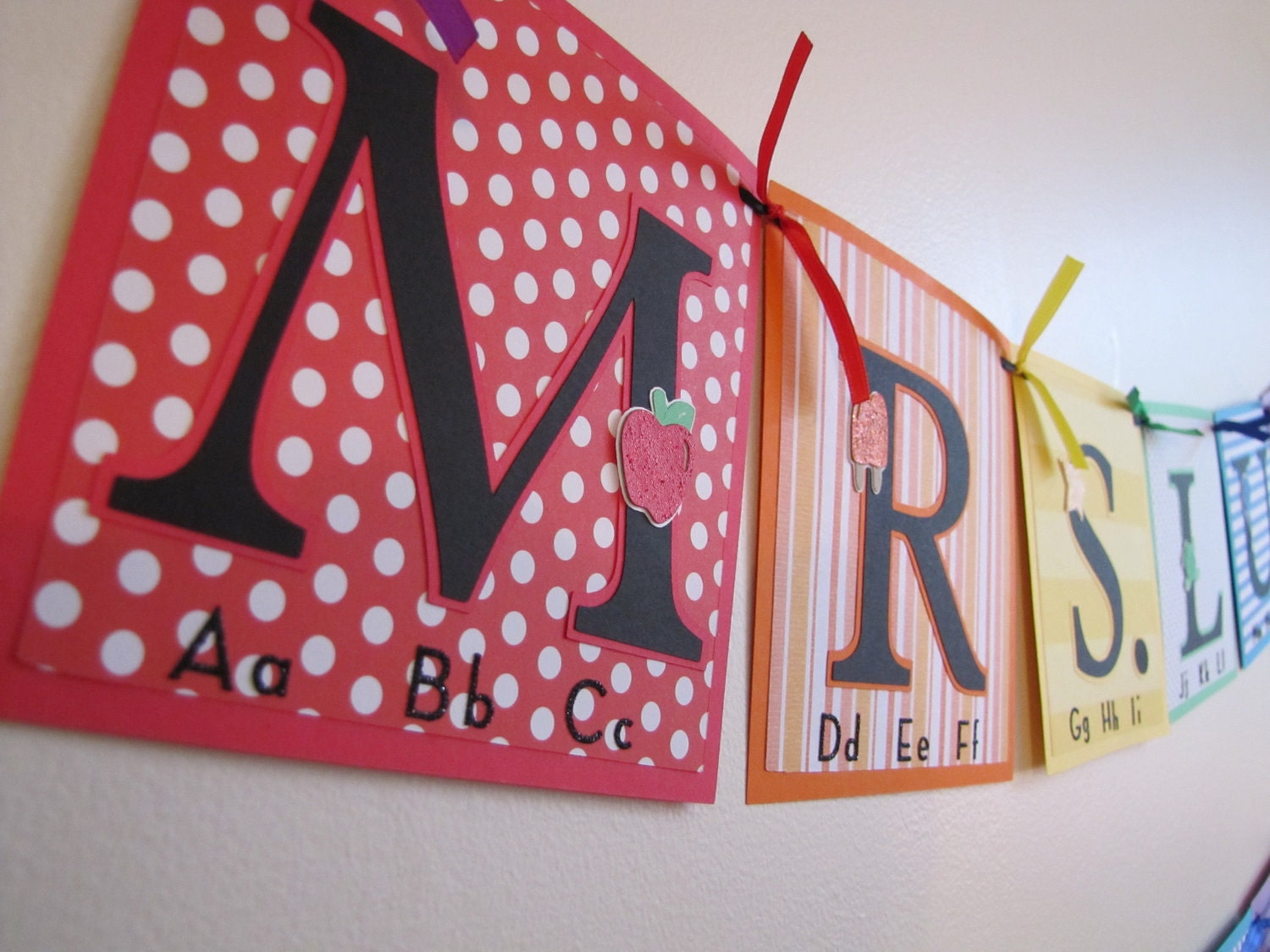Teacher Name Banner Back to School Custom Banners