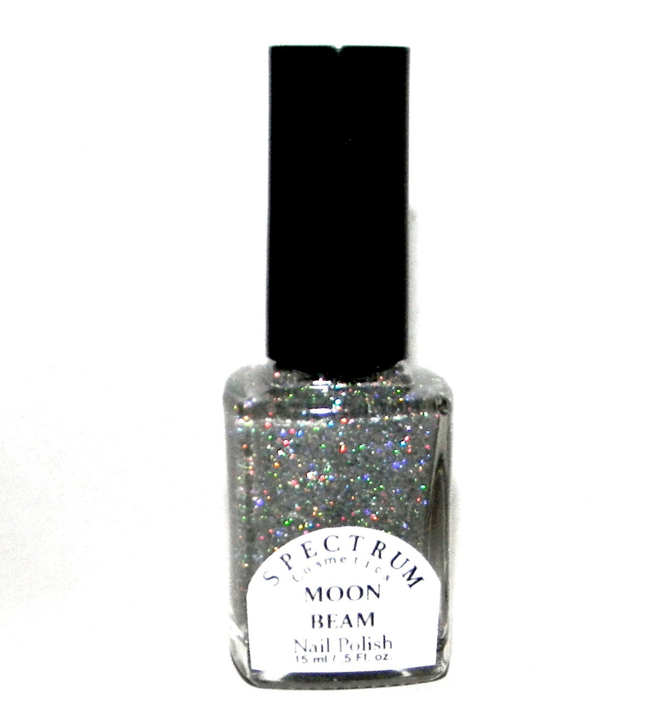 SILVER Holographic Glitter nail Polish MOON BEAM