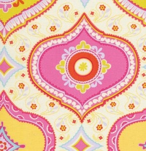 Dena designs fabric kumari garden chandra in red 1 for Kumari garden fabric by dena designs