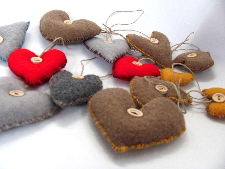 Lev -------- Felt  Heart----Holiday gift---Valentine's Day